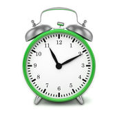 Green retro alarm clock — Stock Photo