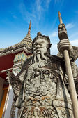Wat Pho stone guardian, Thailand — Stock Photo