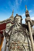 Wat Pho stone guardian, Thailand — Stock Photo