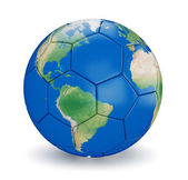 Soccer ball shaped earth — Stock Photo