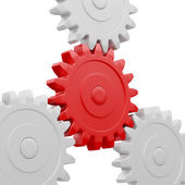 Gear cogwheels working together — Stock Photo