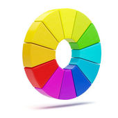 3D color chart — Stock Photo