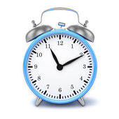 Blue retro alarm clock — Stock Photo
