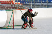 Hockey goalie — Stock Photo