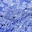Stock Photo: Electronic circuit board close up.