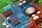 Placa de circuito eletrônico de perto. — Foto Stock