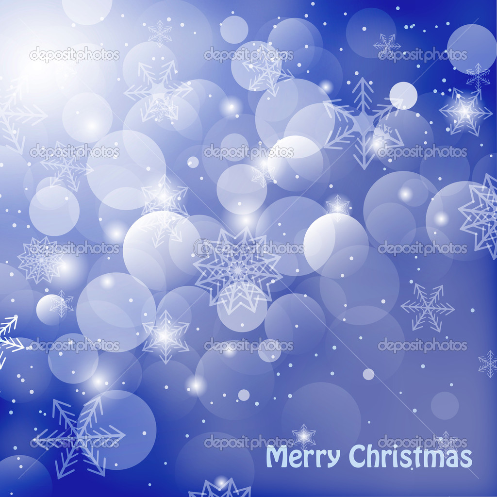 Shiny christmas background with snowflakes and greetings vector illlustration — Stock Photo #12936777