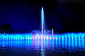 Wroclaw fountain show — Stock Photo
