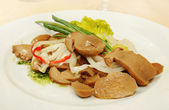 Marinated sliced mushrooms — Stock Photo