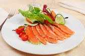 Carpaccio of salmon — 图库照片