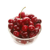 Sweet cherries in glass ware — Stock Photo