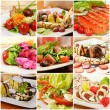 Collage with meals — Stock Photo #19559521