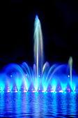 Wroclaw fountain show — Stock Photo