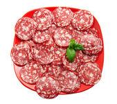 Sausage on the dish — Stock Photo