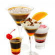Group of coffee cocktails — Stock Photo