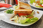 Sandwich in a cafe — Stock Photo