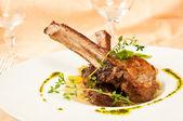 Roasted sheep meat — Stock Photo