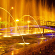 Stock Photo: Batumi fountain show