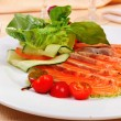 Carpaccio of salmon — Stock Photo