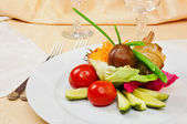 Marinated vegetables — Stock Photo