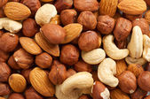 Nuts background — Stock Photo