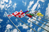 Flags against sky — Stock Photo