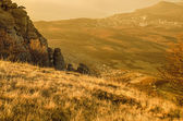 Mountain autumn sunrise — Stock Photo
