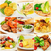 Collage with meals — Stock Photo
