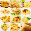 Collage with meals — Stock Photo #43825181