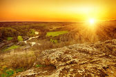 Rural landscape on sunset — Stock Photo