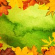 Autumn leaves frame — Stock Photo #48536599
