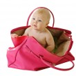 Baby in a bag — Stock Photo #5011724