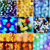 Christmas bokeh set — Foto de Stock