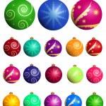 Christmas balls set — Stock Vector #7699077