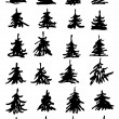 Christmas tree set — Stockvectorbeeld