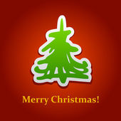 Christmas tree card 5 — Stock Vector