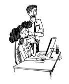 Office konuşma — Stok Vektör
