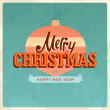 Retro christmas card — Stock Vector