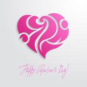 Heart flourish card — Stock Vector
