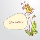 Květina viněta — Stock vektor