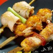Stock Photo: Japanese skewered seafoods Yakitori