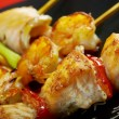 Japanese skewered seafoods Yakitori — Stock Photo #12791881