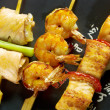 Japanese skewered seafoods Yakitori — Stock Photo #12867036