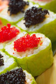 Roll made of Smoked fish and roe — Stock Photo