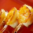 Japanese skewered  Jumbo Shrimp - Stock Photo