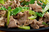 Chinese dish - beef with vegetables close-up — Stock Photo