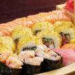 Assorted sushi Japanese food on the ship — Stock Photo #13526712