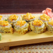 Japanese fried tempura  sushi - Stock Photo