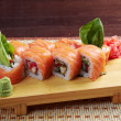 Uramaki. Philadelphia classic. - Stock Photo