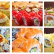 Sushi Roll . collage — Stock Photo